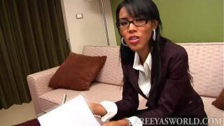 Ladyboy Office Worker Areeya Solo