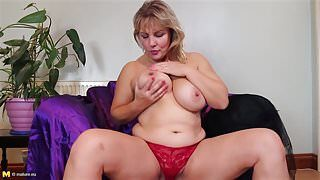 Super mature sex bomb step mom with big tits and ass